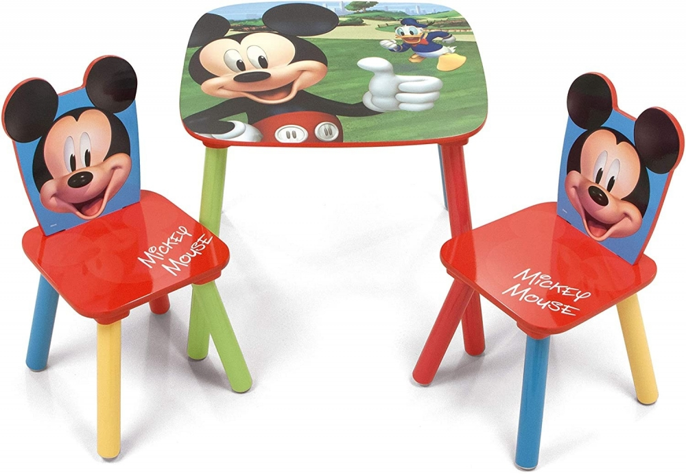 Set masuta si 2 scaunele Mickey Mouse imagine