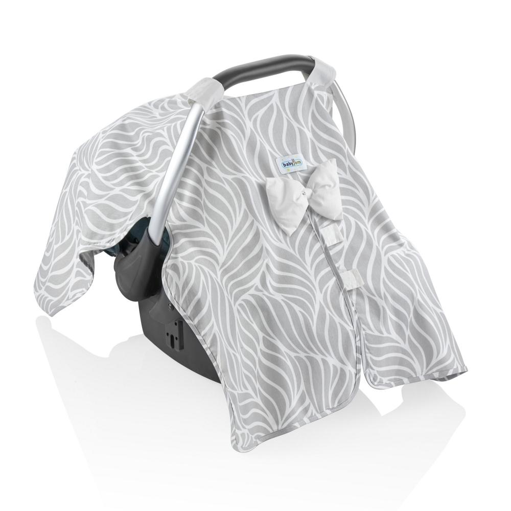 Set reductor si parasolar pentru scaun auto 0-13 kg Bouncer Grey imagine
