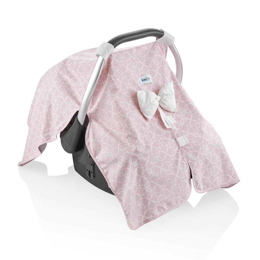 Set reductor si parasolar pentru scaun auto 0-13 kg Bouncer Pink imagine