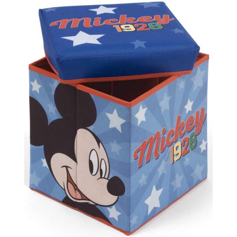 Taburet pentru depozitare jucarii Mickey Mouse