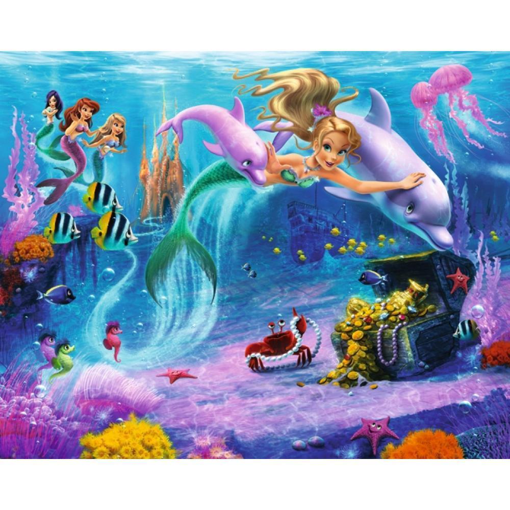Tapet Pe Baza De Hartie Pentru Copii Mermaids
