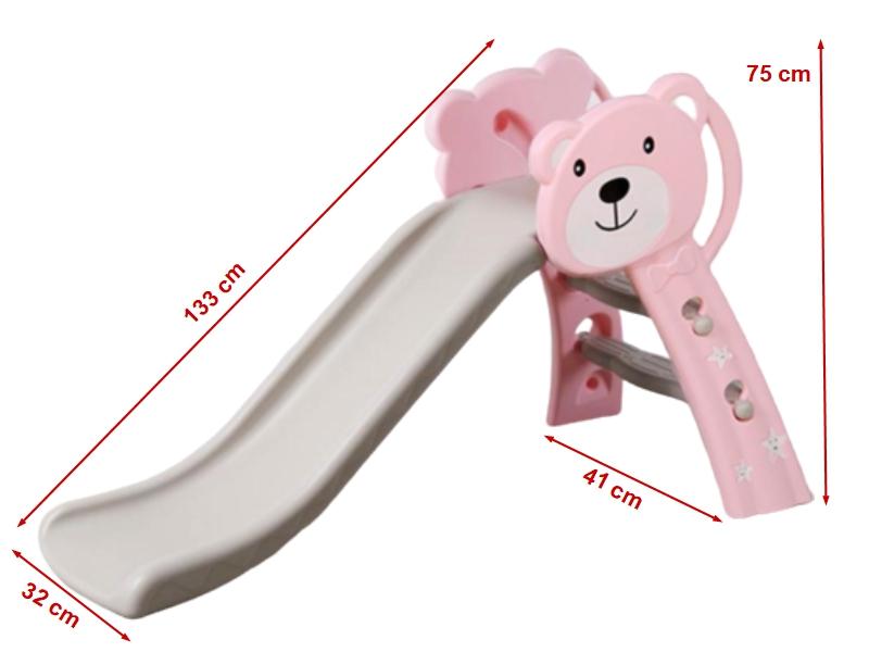 Tobogan Bear Pink 133 cm