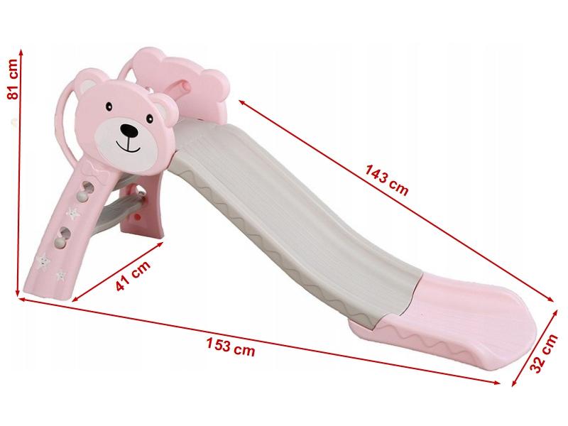 Tobogan Bear Pink 143 cm imagine