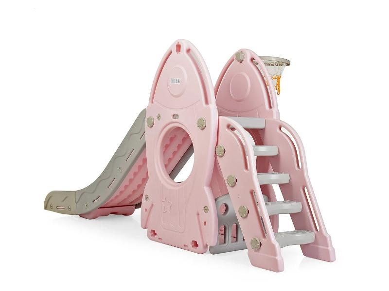 Tobogan cu cos de baschet racheta Pink imagine