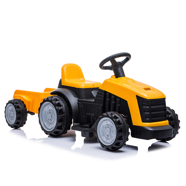 Tractor electric Nichiduta XXL 6V cu remorca Yellow imagine