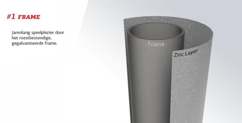Trambulina Berg Grand Favorit Regular 520 gri + plasa Comfort imagine