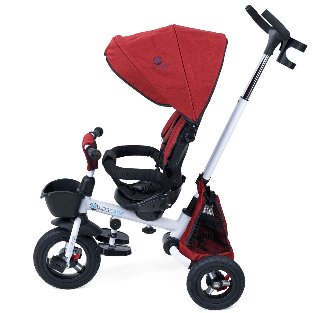 Tricicleta pliabila cu scaun rotativ Davos rosu KidsCare