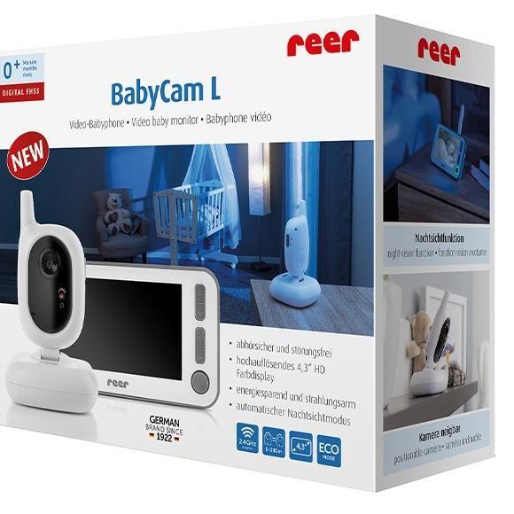 Video monitor digital pentru bebelusi Reer BabyCam L 80430 imagine