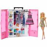 Set Barbie by Mattel Fashion and Beauty Dulap cu haine si papusa