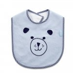 Baveta din bumbac BabyJem Cute animals Blue