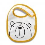 Baveta din bumbac BabyJem Orange Bear