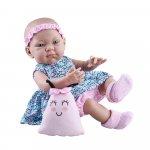 Bebelus fetita in rochita cu buburuze roz si bleu Pikolin Paola Reina