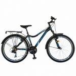 Bicicleta City Velors V2633B 26 inch echipare Shimano 18 viteze negru/albastru