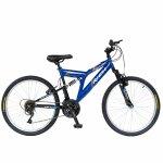 Bicicleta MTB-FS 24 Rich Alpin R2449A cadru otel albastru / negru