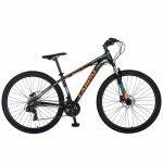 Bicicleta MTB-HT 27 Carpat C2799H cadru aluminiu 21 viteze culoare negru/portocaliu