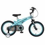 Bicicleta W1639D 16 frana C-Brake cu roti ajutatoare 4-6 ani albastru/negru