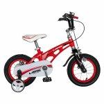 Bicicleta W1246D 12 inch frana C-Brake cu roti ajutatoare 2-4 ani rosu/negru