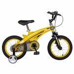 Bicicleta W1439D 14 frana C-Brake cu roti ajutatoare 3-5 ani galben/negru