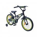 Bicicleta cu roti ajutatoare Byox Pixy Black 18 inch
