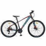 Bicicleta hidraulica Mtb-Ht Carpat C2959H 27.5 inch cadru aluminiu disc Shimano negru/rosu