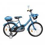 Bicicleta pentru copii cu roti ajutatoare Racer Blue 16 inch
