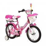 Bicicleta pentru copii cu roti ajutatoare Swimming Pink 16 inch