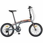 Bicicleta pliabila 20 inch Carpat C2052C echipare SHIMANO 7 viteze gri/portocaliu