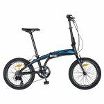 Bicicleta pliabila 20 inch Carpat C2052C echipare SHIMANO 7 viteze negru/albastru