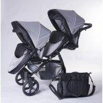 Carucior copii gemeni tandem 2 in 1 Pj Stroller Lux Pepitko