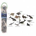Cutie cu 12 minifigurine animale marine Set 1