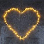 Decoratiune luminoasa inima Liva 70 cm 80 led-uri alb