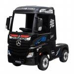 Camion electric  4X4 cu scaun din piele si roti EVA Mercedes Actros Black