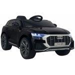 Masinuta electrica cu scaun de piele si roti din cauciuc EVA Audi Q8 Black