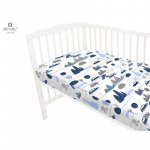 Cearceaf cu elastic 120x60 cm Childrens Journey blue MimiNu