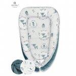 Cosulet bebelus pentru dormit Baby Cocoon 90x50 cm Velvet Deer Green MimiNu