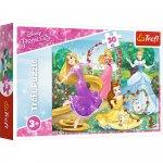 Puzzle Trefl Printese Disney in gradina Palatului 30 piese