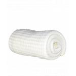 Paturica bebe tricotata bumbac 72 x 110cm Puzzle alb