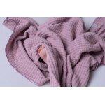 Paturica bebe tricotata bumbac 72 x 110cm Puzzle roz