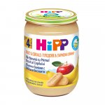 Piure Hipp Fruct & Cereale  mere si banana cu biscuit 190 gr