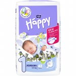 Scutece Happy New Born nr. 1, 2-5 kg 42buc Bella Baby