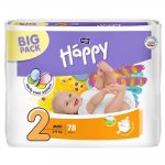 Scutece Happy nr. 2 Mini 3-6 kg 78 buc Bella Baby