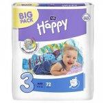 Scutece Happy nr. 3 Middy 5-9 kg 72 buc Bella Baby