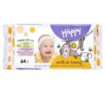 Servetele umede Happy Milk & Honey +0luni  64 bucati  Bella