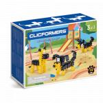 Set de construit Clicformers Catei prietenosi 74 piese