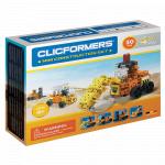 Set de construit Clicformers Mini set cu vehicule de santier
