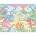 Tapet pe baza de hartie pentru copii Baby Dino World