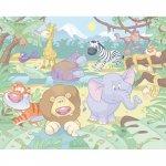 Tapet pe baza de hartie pentru copii Baby Jungle Safari