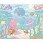 Tapet pe baza de hartie pentru copii Baby Under the Sea