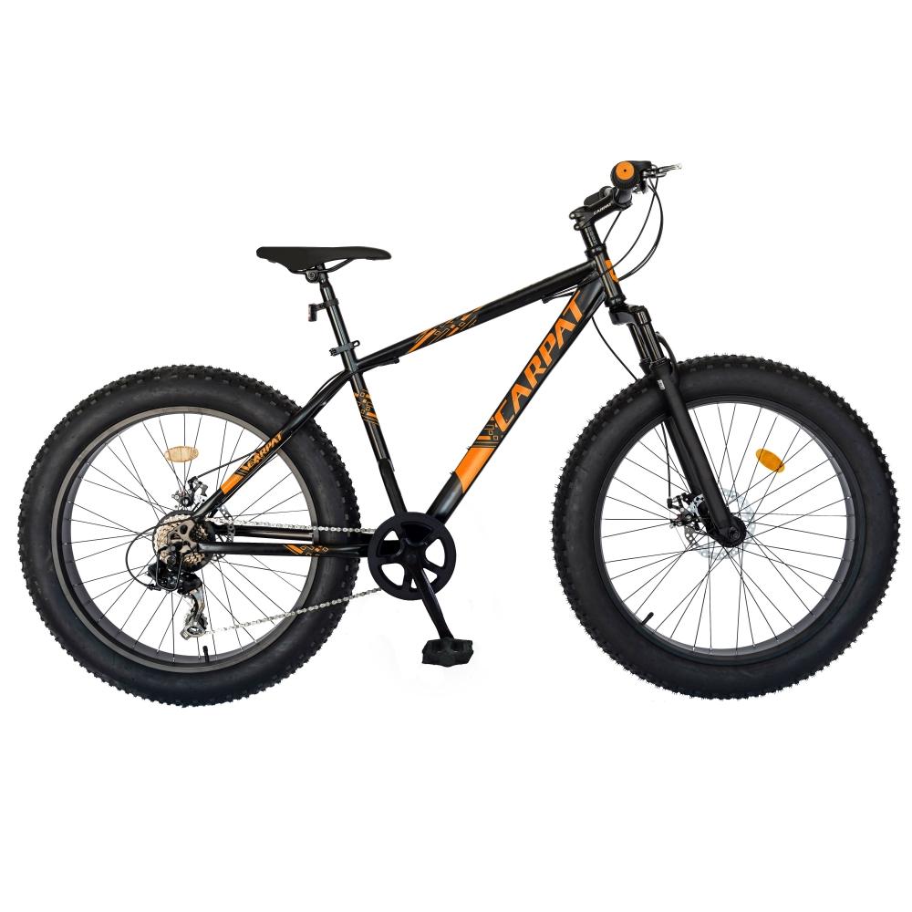 Bicicleta Fat Bike Carpat Hercules 20 inch C2019B 6 viteze culoare negruportocaliu