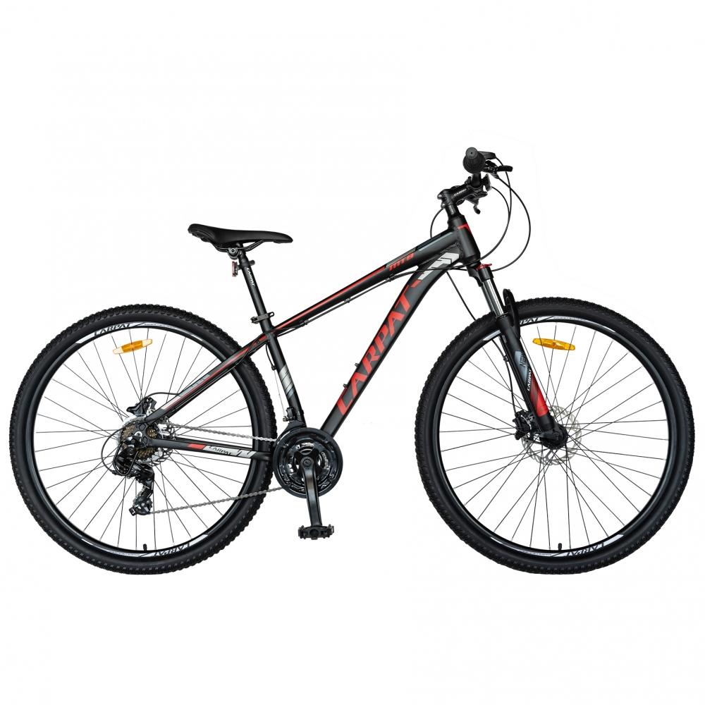 Bicicleta MTB-HT 29 Carpat C2999H cadru aluminiu 21 viteze culoare negrurosu
